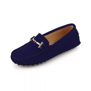 womens navy suede horsbit driving shoes - windsor shoe by london loafers 3