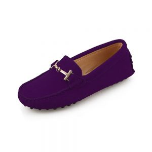 womens purple suede horsbit driving shoes – windsor shoe by london loafers 3