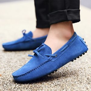 mens blue driving shoes loafers – chelsea london loafers 1