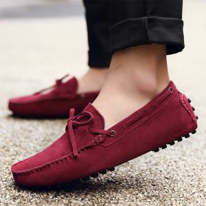 mens burgundy driving shoes loafers – chelsea london loafers 1