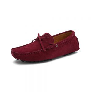 mens burgundy driving shoes loafers - suede driving shoes chelsea london loafers