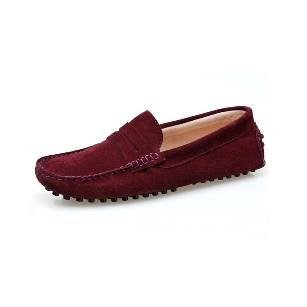 a865d4d7ad2 Mens Burgundy Suede Penny Loafers - Soho Penny Loafers By London Loafers