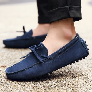 mens navy driving shoes loafers – chelsea london loafers 1