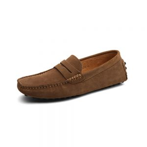 mens tan penny loafers - suede soho penny loafers by london loafers