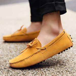 mens yellow driving shoes loafers – chelsea london loafers 1