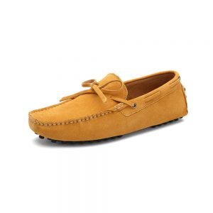 mens yellow driving shoes loafers - suede driving shoes chelsea london loafers