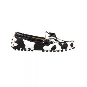 womens cow animal print calf hair driving loafers – kensington london loafers 1