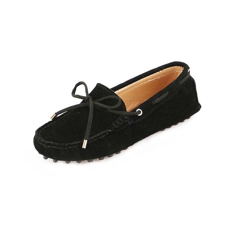 womens black suede lace up driving shoes – kensington shoe by london loafers