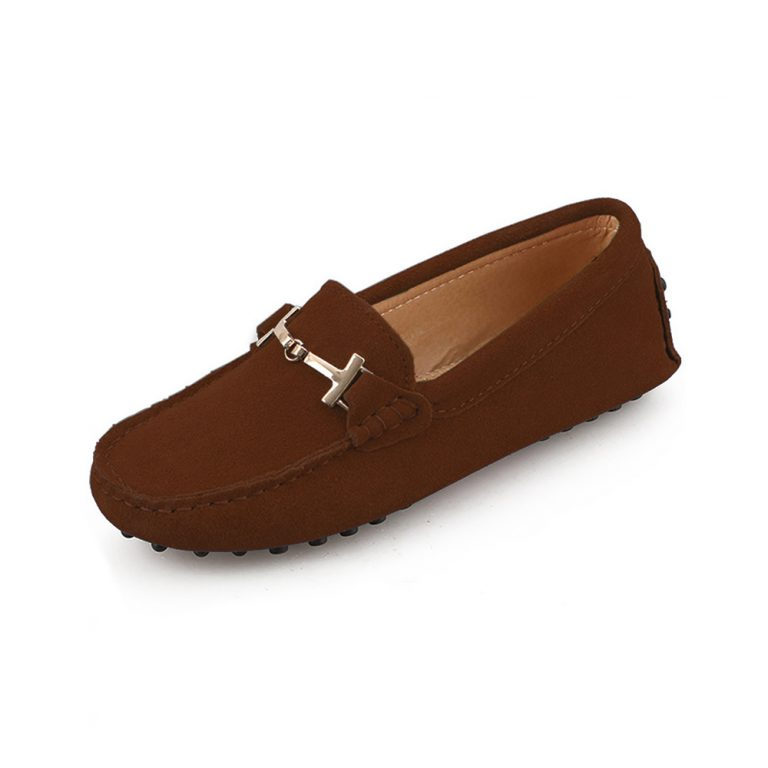 womens brown suede horsbit driving shoes – windsor shoe by london loafers