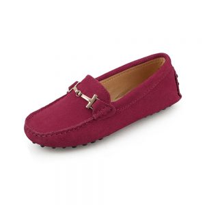 womens burgundy suede horsbit driving shoes - windsor shoe by london loafers