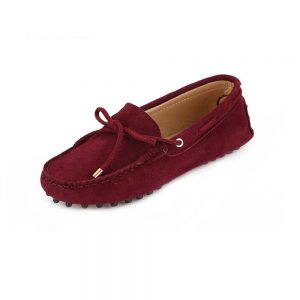 womens burgundy suede lace up driving shoes - kensington shoe by london loafers