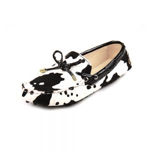 womens cow animal print calf hair driving loafers - kensington london loafers 2