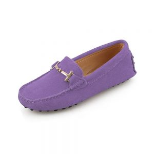 womens lilac suede horsbit driving shoes - windsor shoe by london loafers