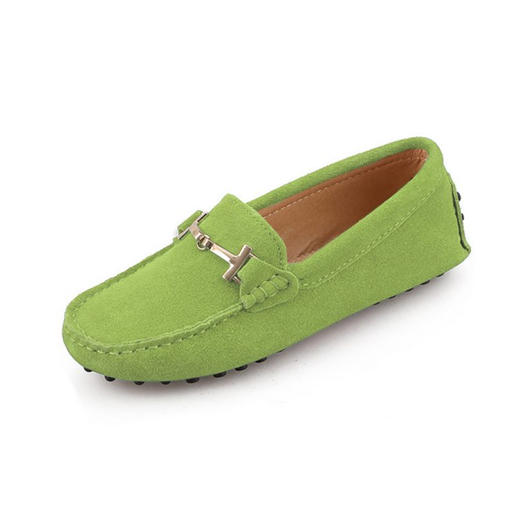 womens lime suede horsbit driving shoes – windsor shoe by london loafers