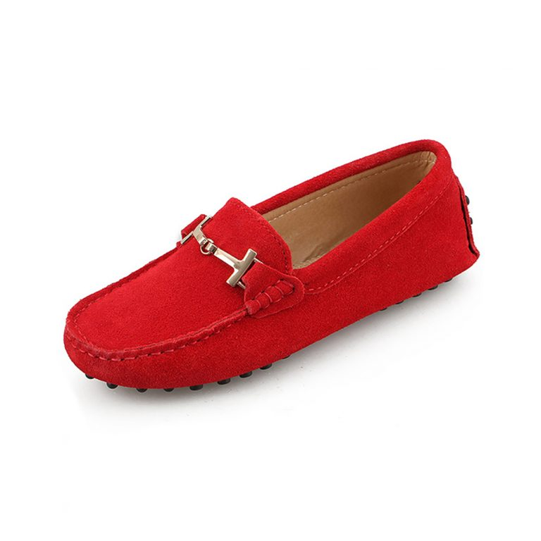 womens red suede horsbit driving shoes – windsor shoe by london loafers