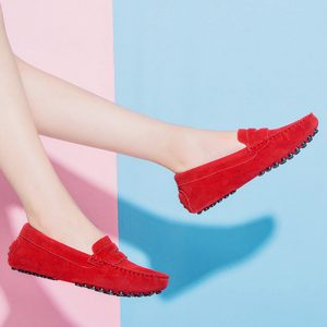 womens red suede penny loafers – soho loafers by london loafers