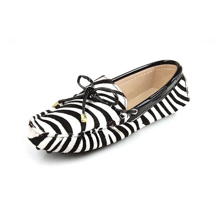 womens zebra print calf hair driving loafers – kensington london loafers